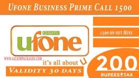 Ufone Business Prime Call Unlimited