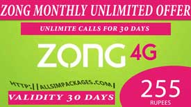 ZONG MONTLY UNLIMITED MINUTES