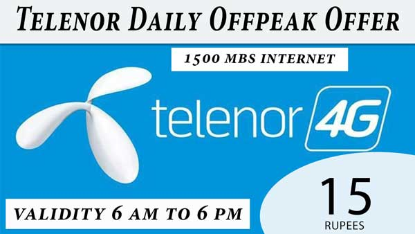 Telenor daily offpeak offer