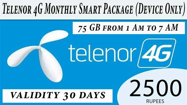 Telenor 4G Monthly Smart Package