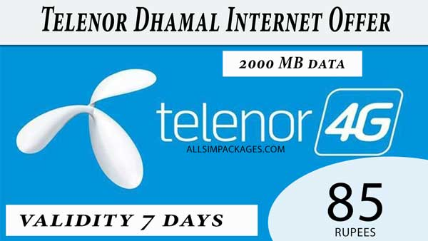 Telenor dhamal internet offer