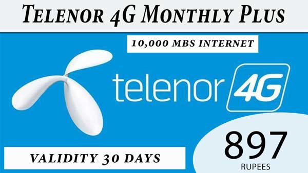 Telenor 4g Monthly plus
