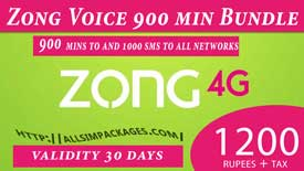 zong voice 900 mins bundle