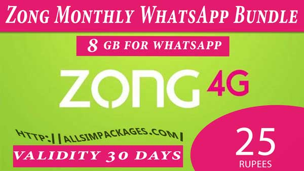 zong monthly whatsapp offer