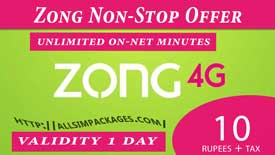 zong non stop offer