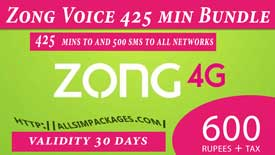 zong voice 425 mins bundle