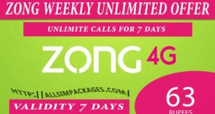 zong weekly unlimited offer