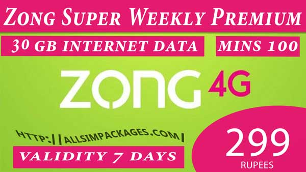 zong weekly premium offer