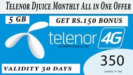 Telenor Djuice Monthly All in One Offer