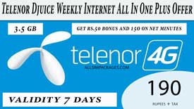 Telenor Djuice Weekly Internet All In One Plus Offer