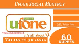 UFONE SOCIAL MONTHLY