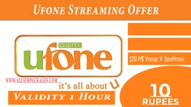 UFONE STREAMING OFFER