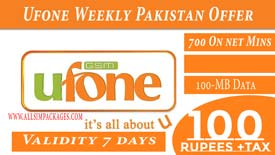 Ufone Weekly Pakistan Offer