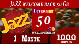 JAZZ Welcome BACK 50 GB DEVICE OFFER