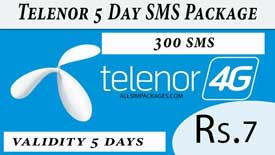 Telenor 5 Days SMS Package