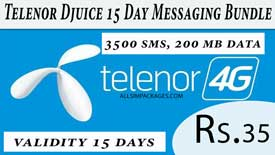 Telenor Djuice 15 Day Messaging Bundle