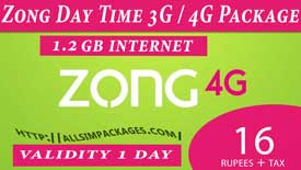 zong day time 3g/4g package