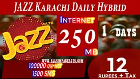 Jazz Karachi Daily Hybrid Offer